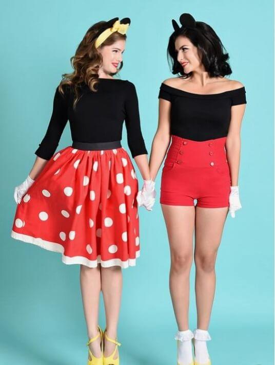 DIY-Kostüm Mickey und Minnie Maus für Fasching, Karneval oder Halloween