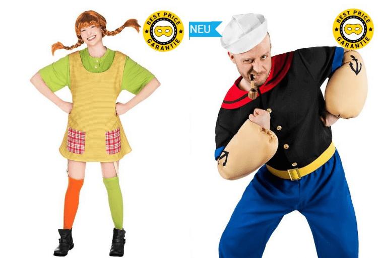 Kostüme für Pippi Langstrumpf und Popeye