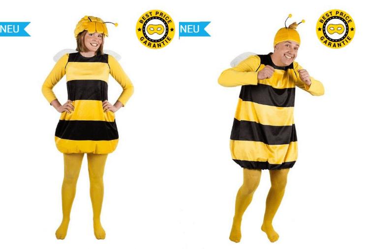 Karnevalskostüme für Biene Maja und Willi