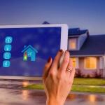 Ansicht des Hauses in einer Smarthome App auf Tablet
