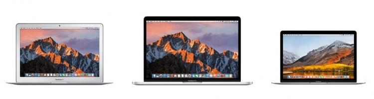 Auswahl einiger Apple-Geräte, wie MacBooks, die als gebrauchte Altgeräte bei Flip4new eingeschickt werden können, um den aktuellen Wert ausbezahlt zu bekommen.