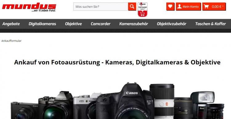Symbolbild zum Ankauf und zur Inzahlungsnahme von Kameras und anderen Altgeräten bei Foto Mundus