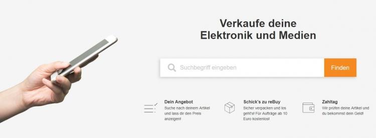 Anleitung zum Ankauf von elektronischen Altgeräten bei reBuy