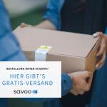 Päckchen einer Online-Bestellung wird abgeliefert als Symbolbild für Blogpost über Online-Shops mit Gratis-Versand ab geringem Bestellwert