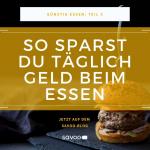 Günstig zubereiteter Burger auf schwarzem Hintergrund