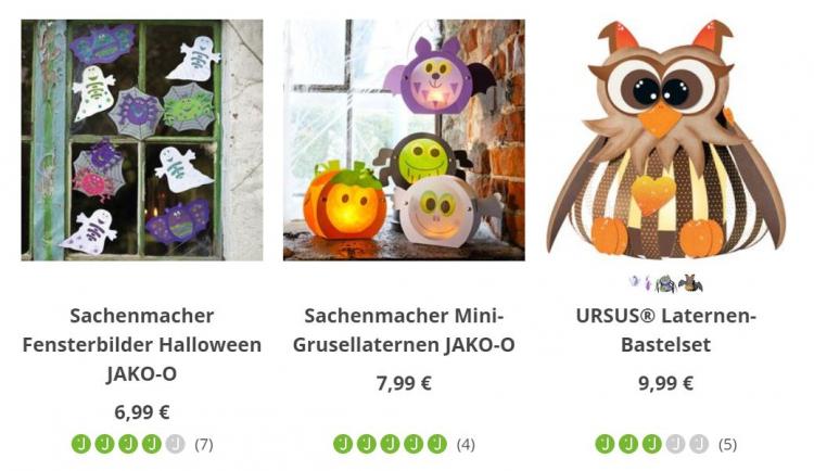 Jako-o Halloween Dekoration aus Fensterbildern, Lampions und Laternen