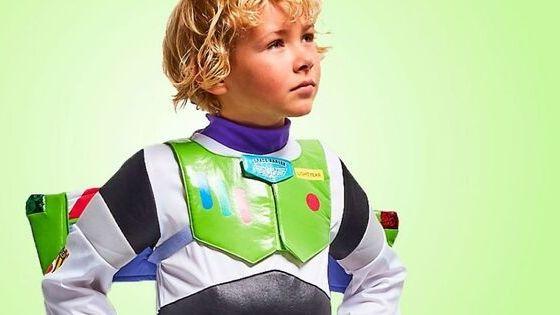 Disney Halloween Kostüm für Kinder als Buzz Lightyear aus dem Film Toy Story