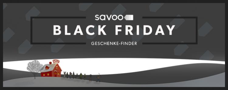 Schwarze Schneelandschaft als Titelbild für den Geschenke Finder mit tollen Black Friday Angeboten 2019s