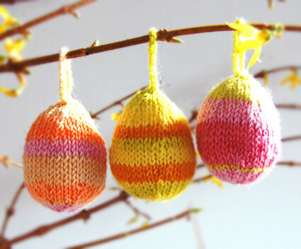 knitted egg decorations