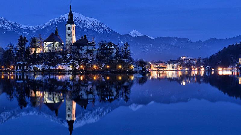 Slovénie-Lac-Bled