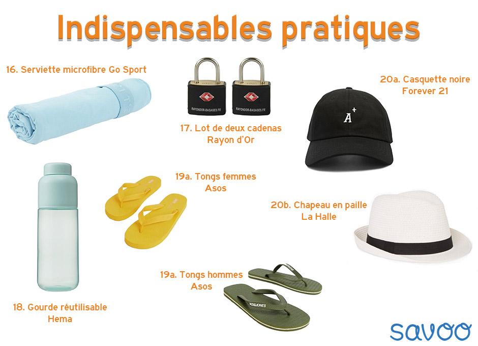 Indispensables de vacances pratiques - Savoo