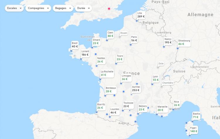 types-de-vols-sur-google-flights