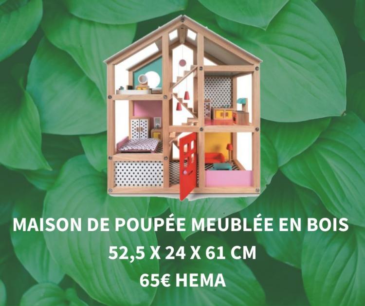 Maison de poupée en bois Hema