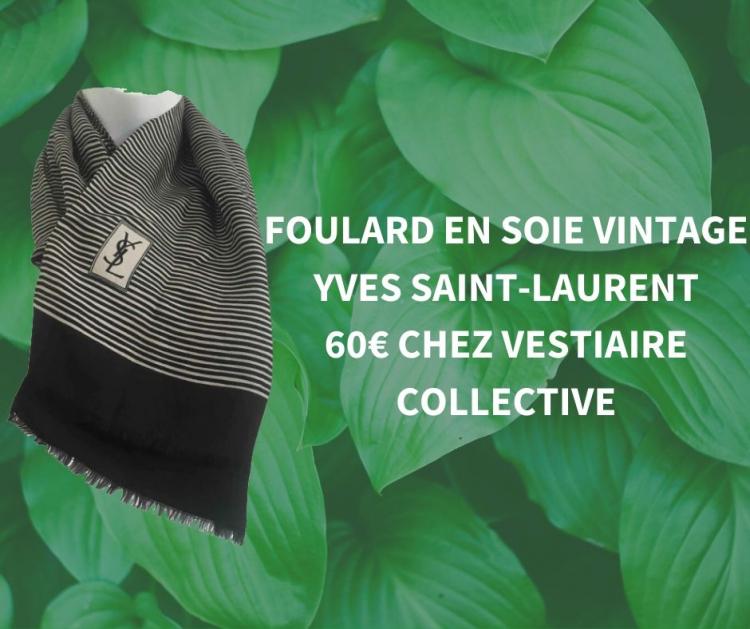 Foulard en soie YSL chez Vestiaire Collective