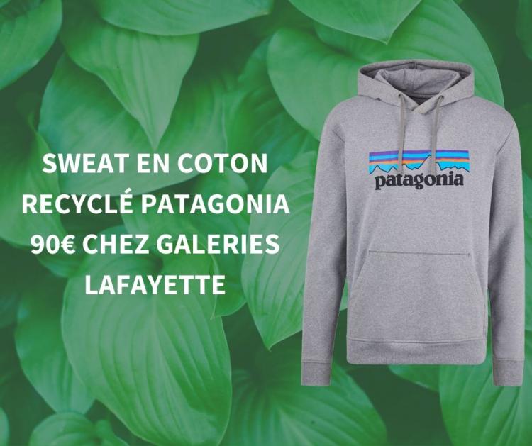 Sweat en coton recyclé Patagonia chez Galeries Lafayette