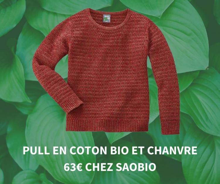 Pull en coton et chanvre Saobio