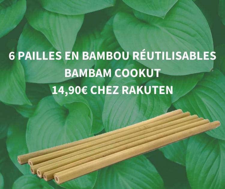 Pailles en bambou Rakuten