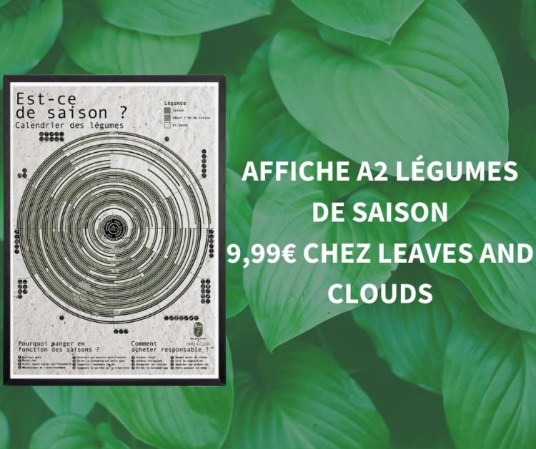 Affiche légumes de saison Leaves and Clouds