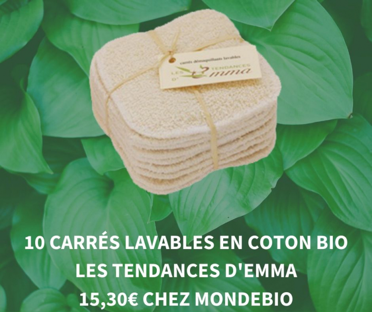 Cotons lavables Mondebio