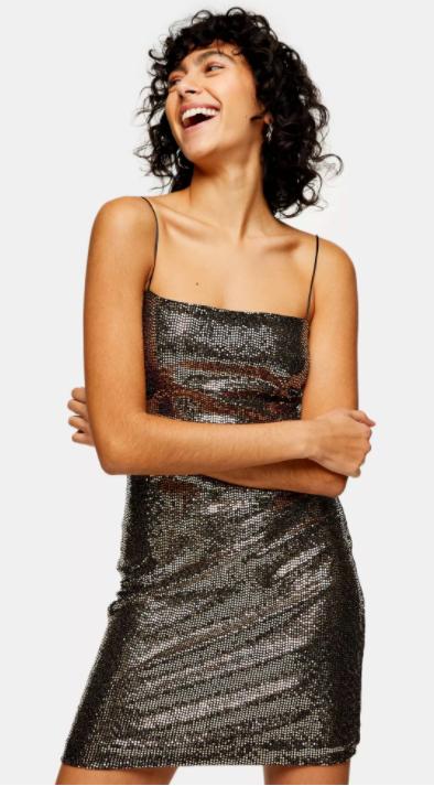 robe topshop pailletée