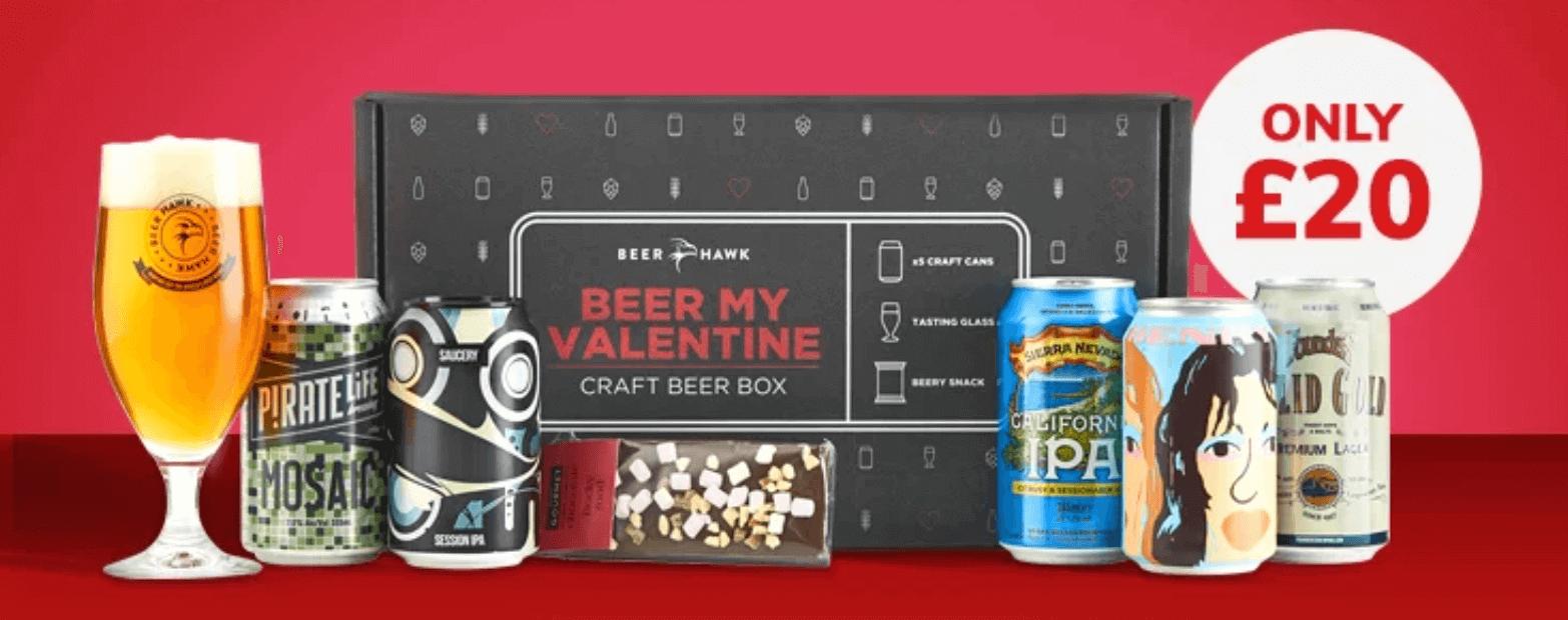 Beer Hawk Valentine's gift box