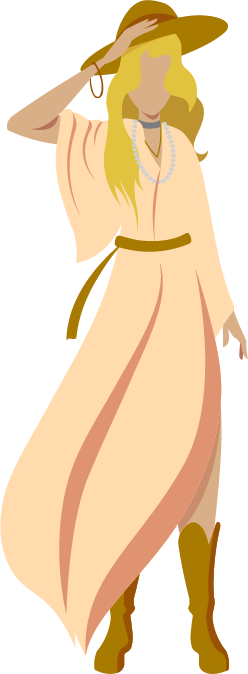 boho hippy woman graphic