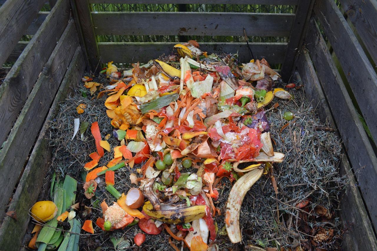 homemade compost garden kitchen waste