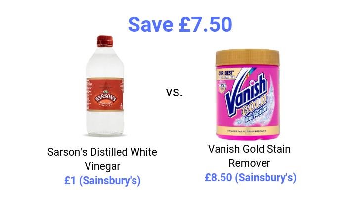 white vinegar price comparison vanish stain remover