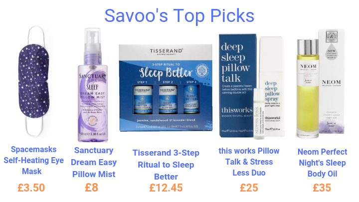 budget sleeping aid beauty products