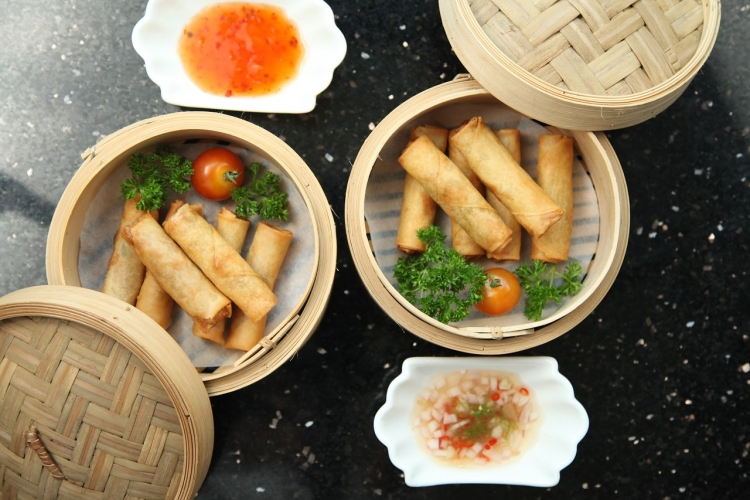 Chinese food, spring rolls