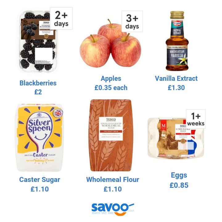 Blackberry and apple cake recipe