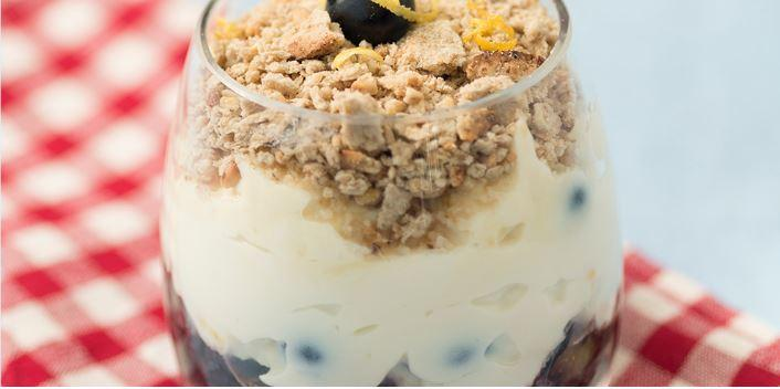 healthy Blueberry lemon cheesecake