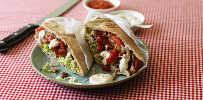 healthy doner kebab