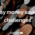 simple money saving challenges with british coins and pennies