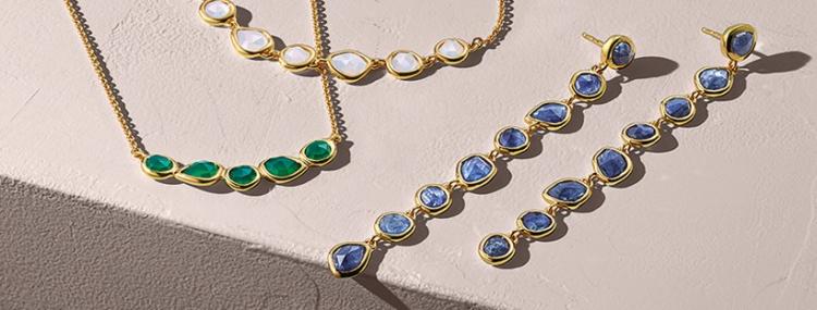 monica vinader gold gemstone necklaces