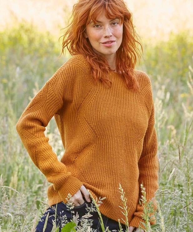 light knit jumper from Damart for autumn fashion